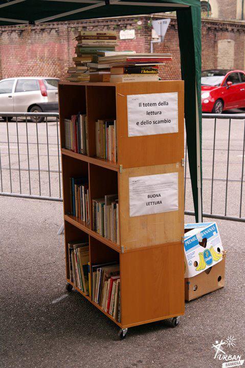 La libreria con le ruote per scambiare libri gratis