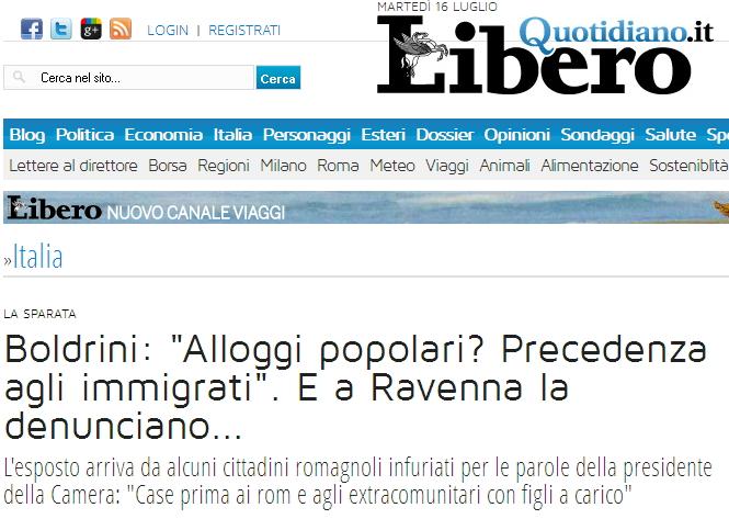 La bufala della Boldrini che vuole dare le case popolari prima a rom ed extracomunitari